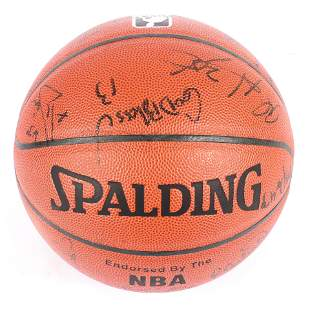 1998-99 Indiana Pacers Team Signed Basketball w/Reggie