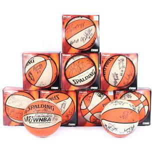 Lot of 10 Multi Signed 1999 WNBA Basketballs