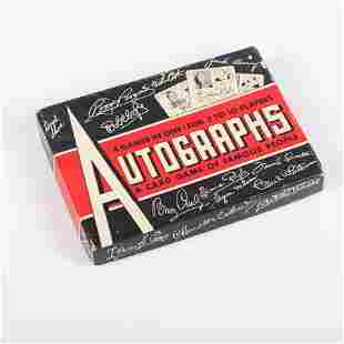 """1940's """"The Autograph Game"""", Complete Card Game w/ Box"""