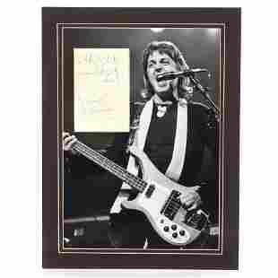 Paul McCartney 1975 Autographed Promotional Card,