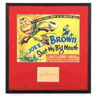 Joe E. Brown Autographed Framed Lobby Card Display