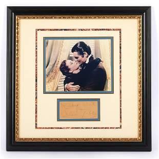 Clark Gable Autographed Framed Photo Display, PSA/DNA