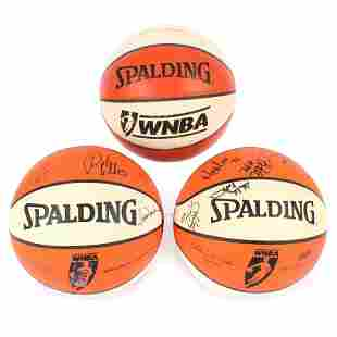 Indiana Fever Game Used WNBA Basketball & 2 Team