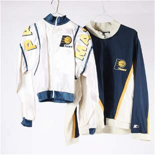 2 - 1990's Indiana Pacers Pace Mates Sideline Worn