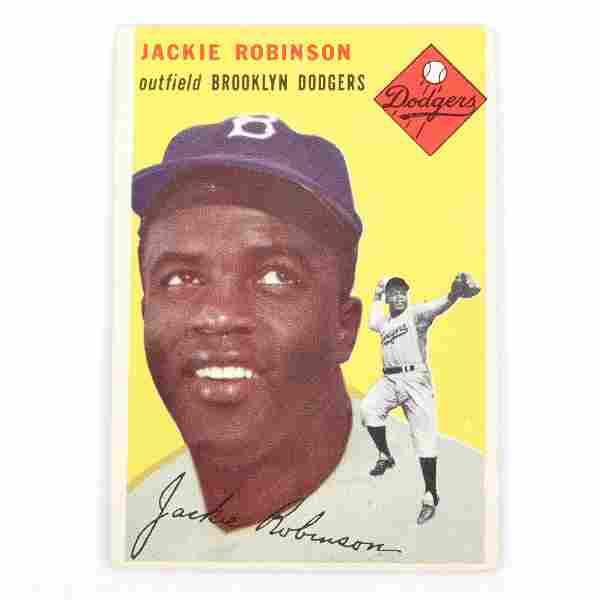 1954 Topps Jackie Robinson Baseball Card #10