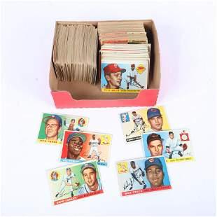 Lot of 256 - 1955 Topps Baseball Cards