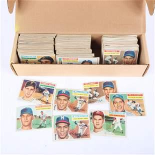 Lot of 262 - 1956 Topps Baseball Card Lot
