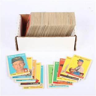 Lot of 245- 1958 Topps Baseball Cards