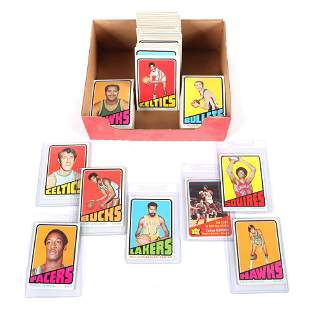 1972-73 Topps Basketball Complete 264 Card Set, with
