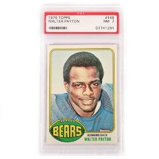 1976 Topps Walter Payton Rookie Football Card #148, PSA