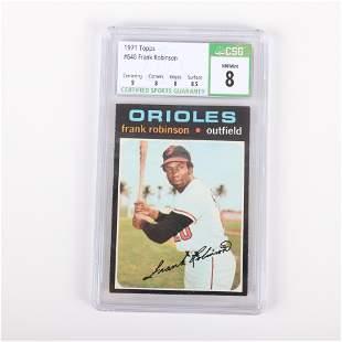 1971 Topps Frank Robinson Baseball Card #640, CSG