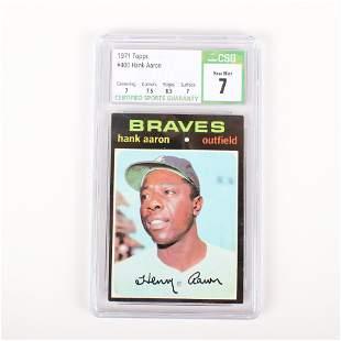1971 Topps Hank Aaron Baseball Card #400, CSG NM 7