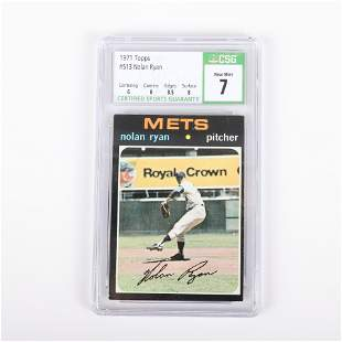 1971 Topps Nolan Ryan Baseball Card #513, CSG NM 7