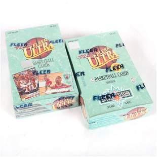(2) 1992-93 Fleer Ultra Basketball Wax Boxes, Series 1