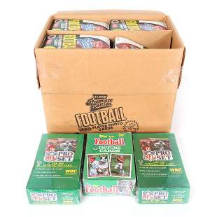 21 1990 Unopened Football Card Wax Boxes, 1 1991