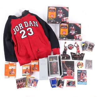 Lot of Michael Jordan Trading Cards and Memorabilia