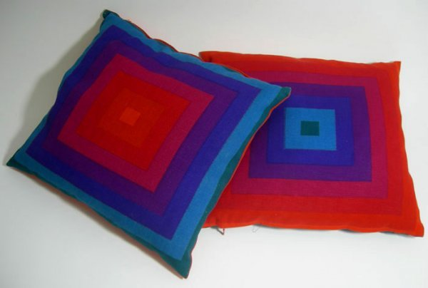 104: MID CENTURY MODERN MOD PANTON SPACE AGE PILLOWS 2