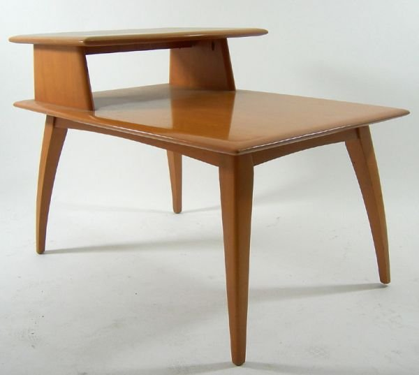 124: HEYWOOD WAKEFIELD SIDE TABLE  MID CENTURY 50s