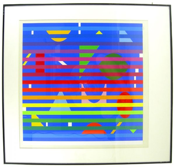 160: MID CENTURY OP ART YACCOV AGAM KINETIC PANTON ERA