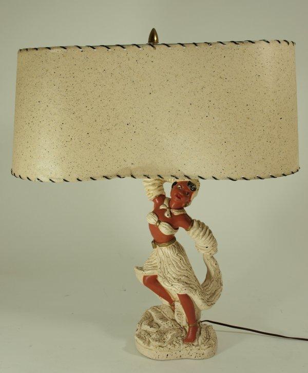 1008: Circa 1955 Kitsch Calypso Dancer Lamps (pair)