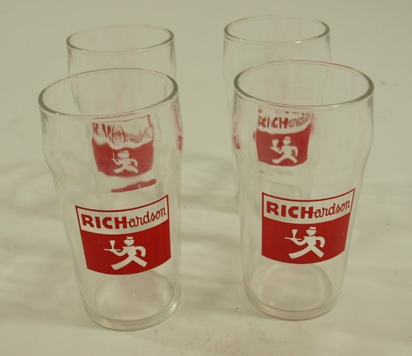 1012: Richardson Root Beer Fountain Glasses (set of 4)
