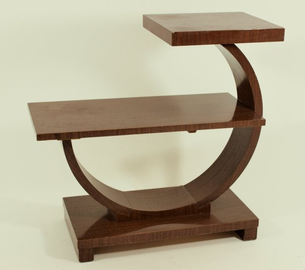 1015: 1930's Art Deco Step End Table