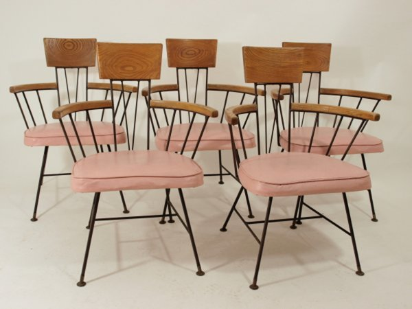 1112: Mid Century McCobb Set 5 Dining Chairs Eames Era
