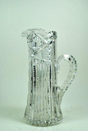 Libbey 'Ellsmere' Pattern Cut Glass Champagne Pitcher