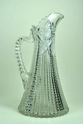 Allover Brilliant Cut Glass Champagne Pitcher