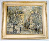 George Wharton Edwards Oil on Canvas 'Pont Maria'
