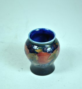 Signed Moorcroft England Pomegranate Vase