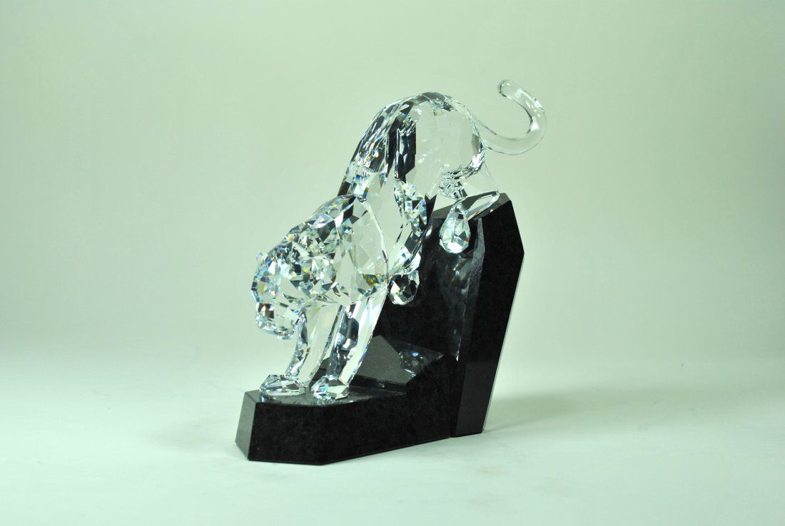 Signed Swarovski Crystal & Granite 'Soulmate' Panther