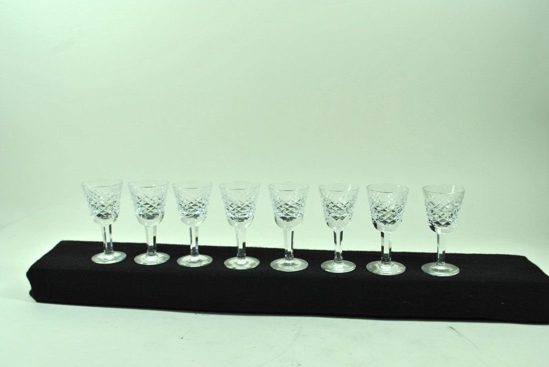 8 Signed Waterford Alana crystal Small Liqueur Glasses