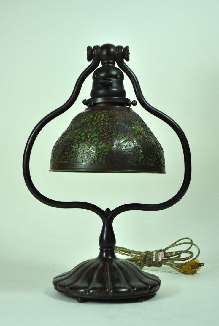 Signed Tiffany Studios, NY Bronze Table Lamp