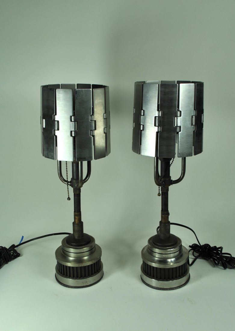 "Pr. 19"" Machine Age Lamps"