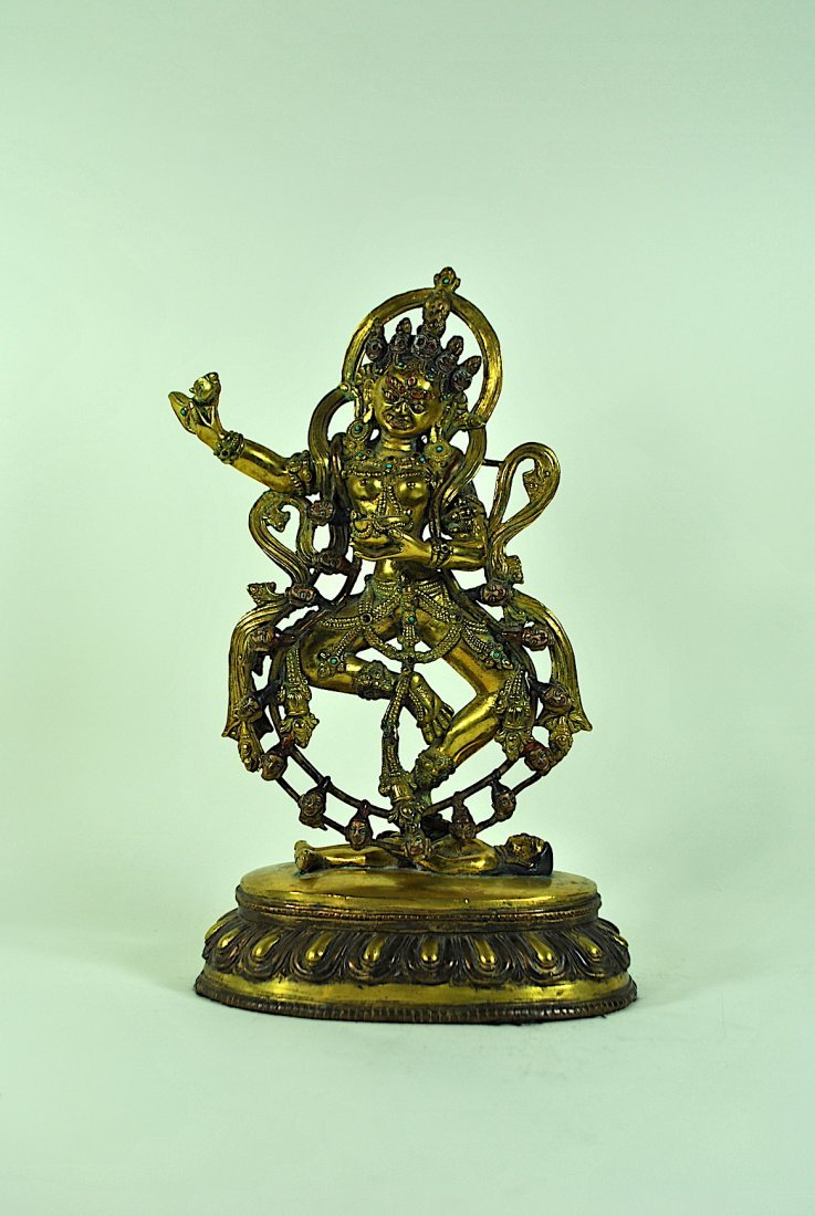 Gilt Bronze 2 Part Figure of Vajrayogini