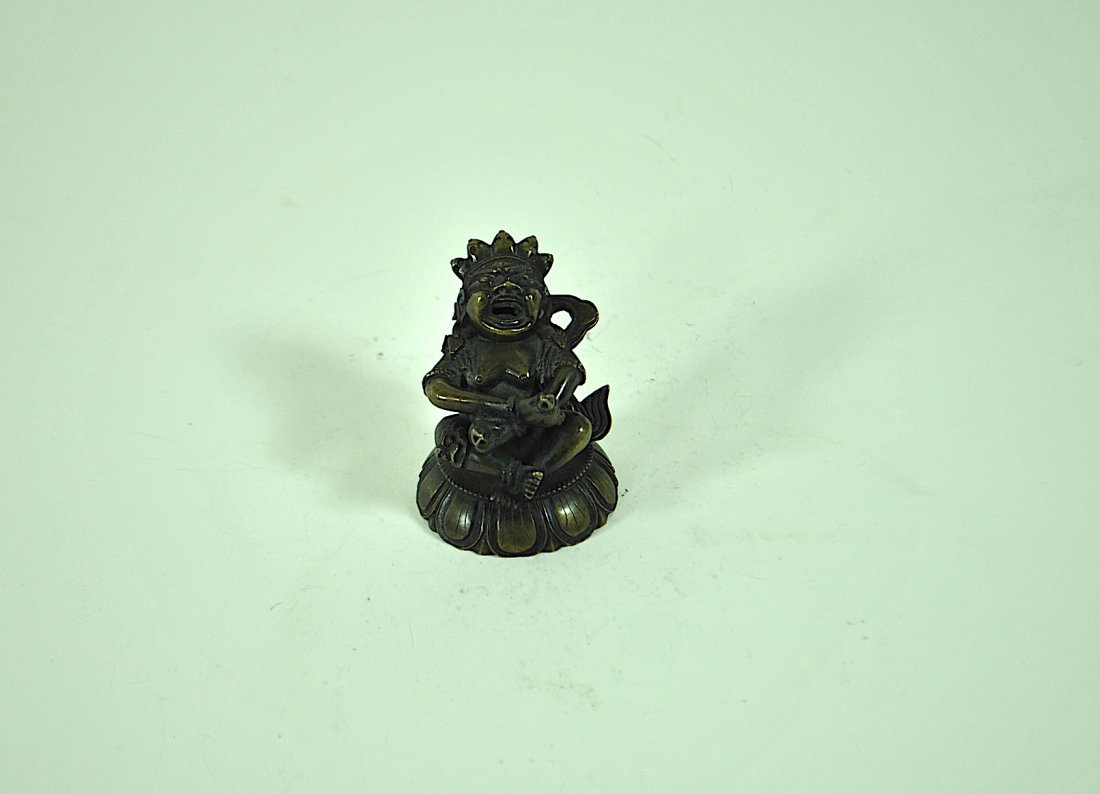 Tibetan Bronze Figure of Vajradaka