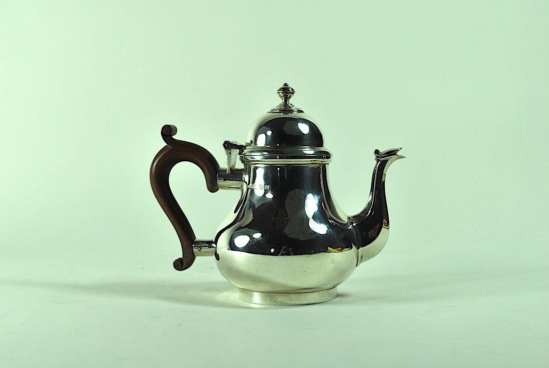 English Sterling Teapot - 3