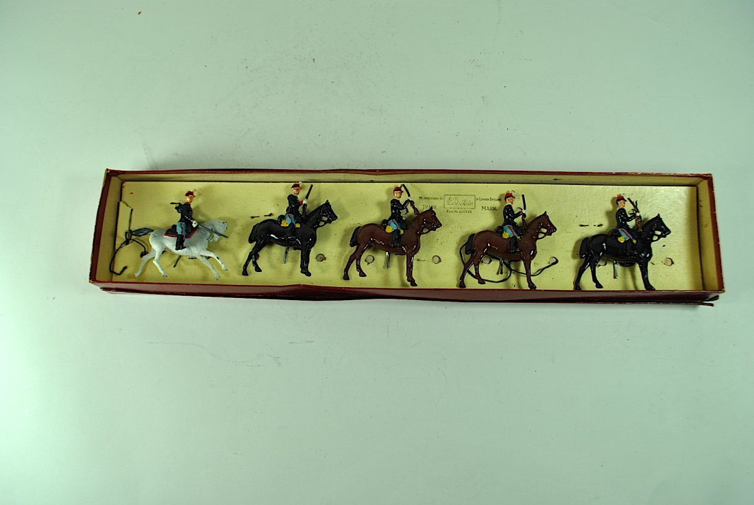 5 Pc. Set of Britains Lead Belgian Army Soldiers