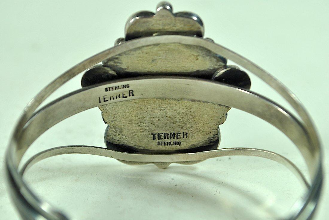 Signed Terner Navajo Sterling Cuff Bracelet - 5
