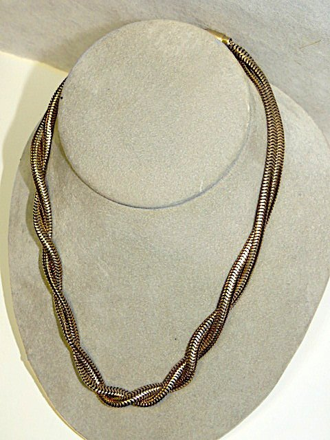 14k Double Twisted Strand Necklace