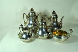 5 Piece Tiffany & Co. Makers Sterling Tea Set
