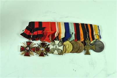 Group of 9 Russian Imperial Orders & Medals