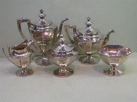 393: 5 PC GORHAM STERLING TEASET SOLD BY J E CALDWELL