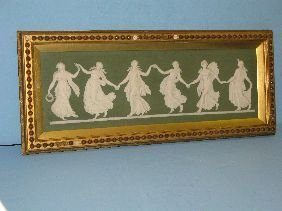 "272: 6""X18"" WEDGWOOD PLAQUE 'DANCING MAIDENS'"