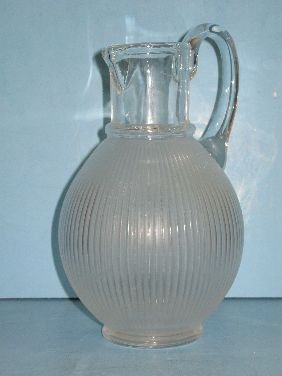 308: LALIQUE 'LANGEAIS' CRYSTAL PITCHER