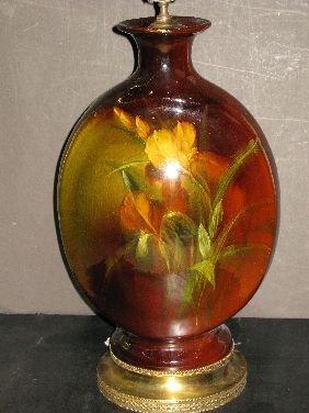 313: ROSEVILLE ROZANE ART POTTERY LAMP