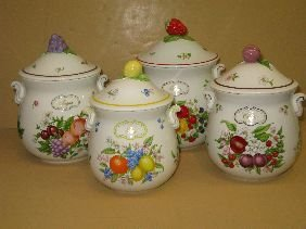 377: 4 PC LENOX 'ORCHARD' CANISTER SET