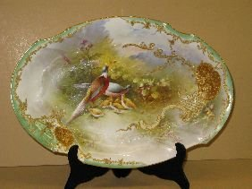 378: LIMOGES HAND PAINTED GAME PLATTER