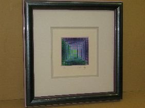 388: SERIGRAPH 'COMPOSITION' PENCIL SIGNED VASARELY